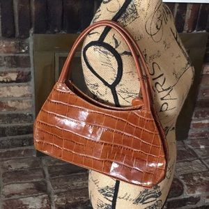 Monsac textured leather handbag